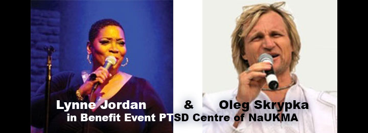 Lynne Jordan & Oleg Skrypka in Benefit Event PTSD Centre of NaUKMA